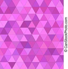 rosa, triangolo, disegno, mosaico, fondo