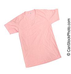 rosa, tshirt, plantilla