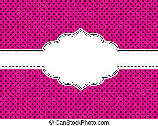 rosa, tupfen, hintergrund