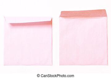 rosa, två, överdragen