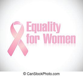 rosa, uguaglianza, illustrazione, disegno, nastro, donne