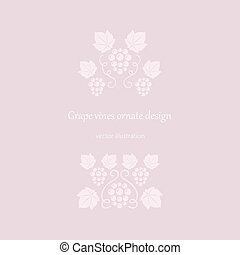 rosa, uva, viti, ornates