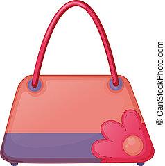 rosa, väska, mode