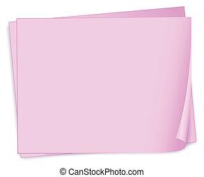 rosa, vacío, papeles