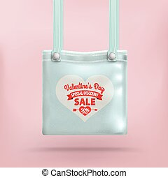 rosa, valentines, borsellino, borsa, fondo, giorno