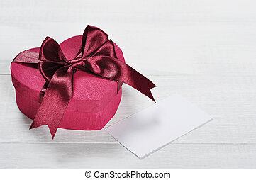 rosa, valentinestag, geschenkschachtel