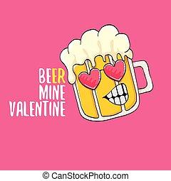 rosa, vector, divertido, saludo, lema, fiesta, valentines, ...