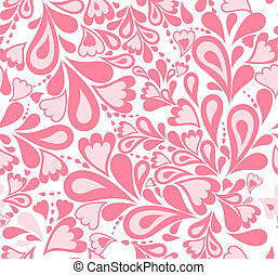 rosa, vector, pattern., seamless, salpicadura, plano de...