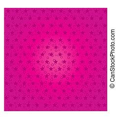 rosa, vector, resumen, ilustración, 4, estrellas, plano de...