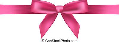 rosa, vektor, abbildung, schleife