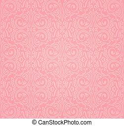 rosa, vektor, design, tapet