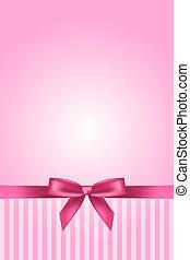 rosa, vektor, hintergrund, schleife