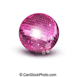 rosa, vektor, kugel, disko