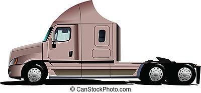 rosa, vektor, lastbil, illustration