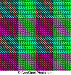 rosa, verde, cheque, teja