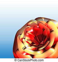rosa, vermelho, 3d