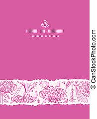 rosa, verticale, modello, strappato, seamless, fondo, lillies, lineart