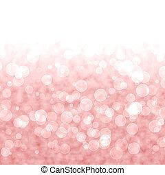 rosa, vibrante, luces, bokeh, fondo rojo, o, borroso