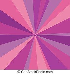rosa, viola, raggi, raggi, illustrazione, fondo., luminoso, vettore, disegno, tuo, rosso