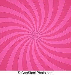 rosa, virvla, mönster, illustration, bakgrund., vektor, radialdäck