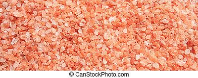 rosa, voll, banner., farbe, rahmen, auf, hintergrund, himalayan, schließen, salz, ansicht