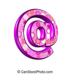 rosa, web, freigestellt, zeichen, hintergrund, weißes, 3d
