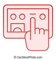 rosa, web, stile, selezione, 10., tavoletta, icone, pendenza, schermo, eps, appartamento, style., tocco, disegnato, digitale, trendy, icon., mano, disegno, app.