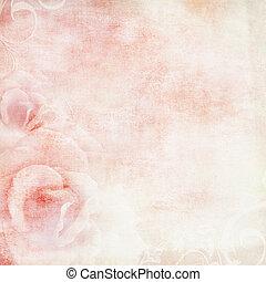 rosa, wedding, hintergrund, mit, rosen