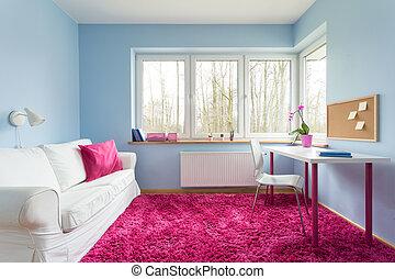 rosa, weich, teppich