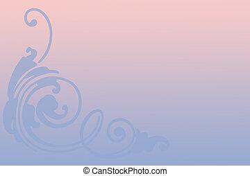 rosa, y azul
