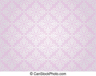 rosa, y, plata, papel pintado