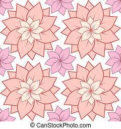 rosa, yoga, loto, centri, studi, seamless, struttura, flowers., vettore, disegno, fondo, terme, cartoline, tuo
