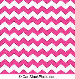 rosa, zag, zig, vektor, mönster, tegelpanna