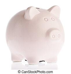 rosafarbene piggy bank