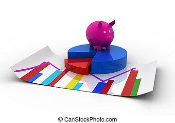 rosafarbene piggy bank, tabelle