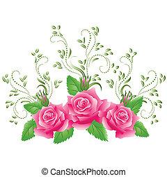 rosafarbene rosen