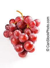 rosafarbener hintergrund, lieb, freigestellt, trauben, weißes