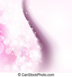 rosafarbener hintergrund, mit, feiertag, glänzend, lichter