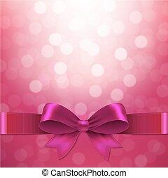 rosafarbener hintergrund, mit, schleife