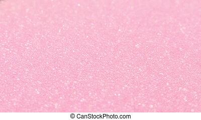 rosafarbener schwamm, drehen