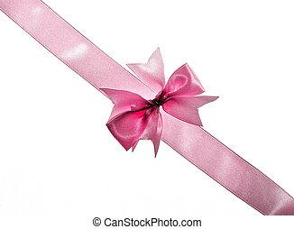 rosafarbenes band, und, schleife