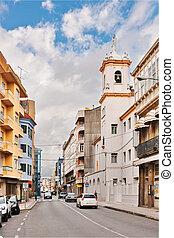 Rosalia de Castro Street in Vilagarcia de Arousa
