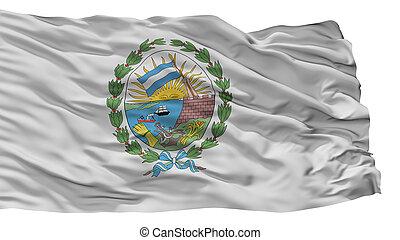 Rosario City Flag, Argentina, Isolated On White Background...