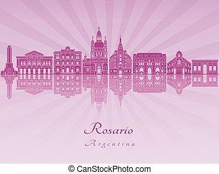 Rosario skyline in purple radiant orchid