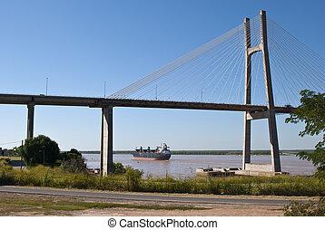 Rosario Victoria Bridge - A harp cable-stayed bridge over ...