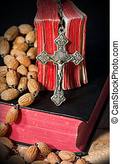 Rosary Beads and Two Holy Bibles