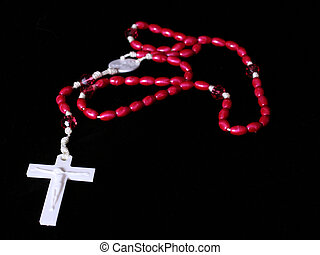 Rosary on black Background