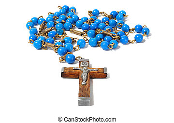 Rosary on white - Rosary isolated on white background.