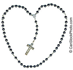 Rosary:Jesus loves you - Heart shaped christian rosary...