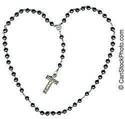 Rosary:Jesus loves you - Heart shaped christian rosary...